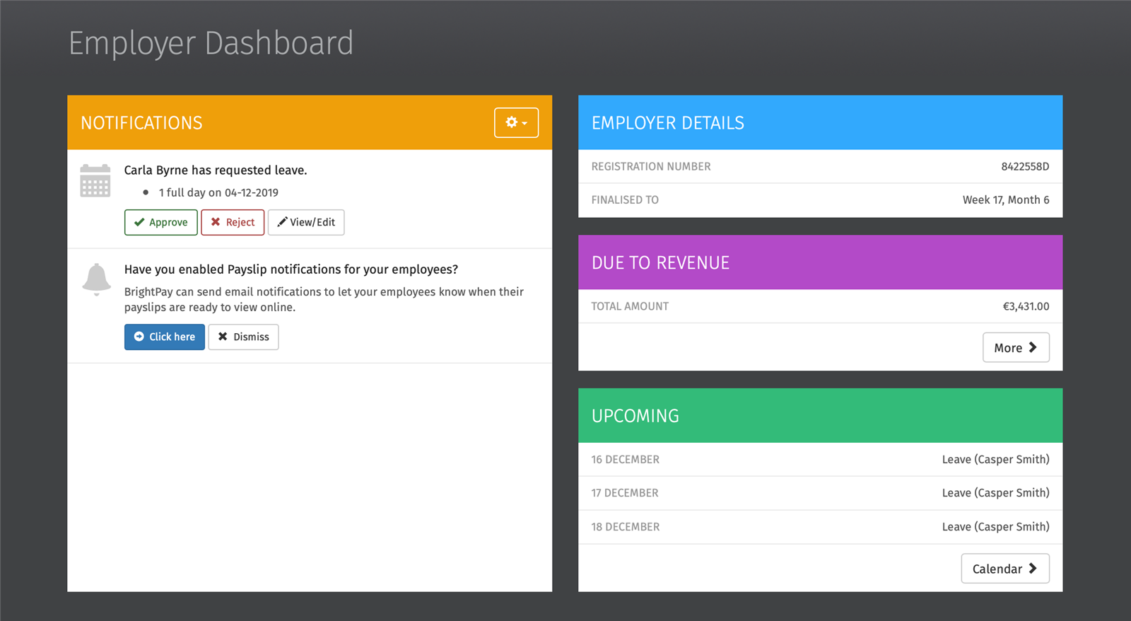 employer dashboard